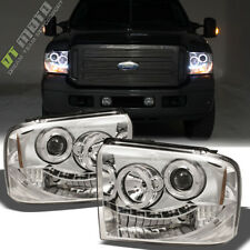 2005 2006 2007 Ford F250 F350 F450 Superduty LED Halo Projector Headlights 05-07
