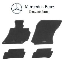 NEW Mercedes W221 S-Class 2007-2013 Black Velour Carpeted Floor Mat Set Genuine