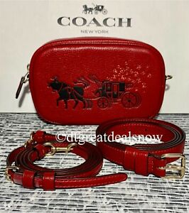 NEW Coach Lunar New Year Convertible Belt Bag With Ox Carriage Red C2256 Leather