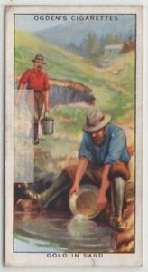Mining Gold From Alluvial River Sand Gravel Deposits 80+ Y/O Trade Ad Card