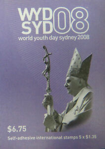 MINT 2008 WORLD YOUTH DAY P&S STAMP BOOKLET - BARCODE 712