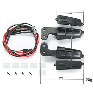 Built-In Spotlights Front Bumper Light With Wire Parts for DJ Trx-4 Ford Bronco
