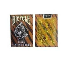 Rare Bicycle Tiger Deck Playing Cards -Tiger Skin Back Design Black White Yellow