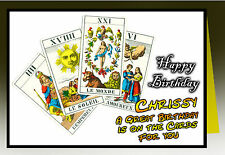Tarot Reading personalised Greeting Happy Birthday Card Fortune Telling Wicca