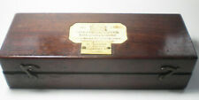 A Victorian hydrometer in mahogany box