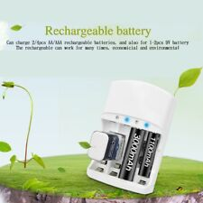 Quick LCD Rechargeable Battery Charger Slot AA AAA 9V