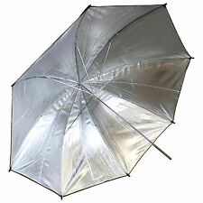 "New 43"" Inch 110cm Black and Silver Photo Studio Reflective Umbrella US SELLER"