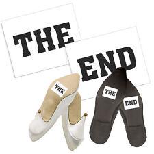 "Schuhsticker ""The End"" 2 Stk. Schuh Sticker Aufkleber Brautschuhe"