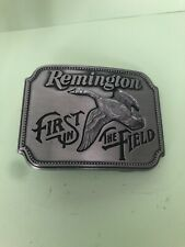 Remington First In The Field Canada Goose By Sid Bell 1980 Pewter Belt Buckle A2
