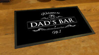 Fathers Day Dad's Bar Beer Label bar runner mat