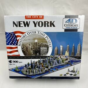 City of New York History Over Time 4D Puzzle 900+ Pieces New Sealed