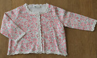 Ex Next Baby Girls Pink Cotton Floral Lace cardigan 3-6m 6-9m 12-18m NEW