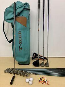 Ladies Mizuno Full Set Golf Clubs & Cart Bag / Right Handed