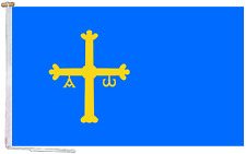 More details for asturias spain flag with rope and toggle - various sizes