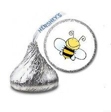 216 BUMBLE BEE HERSHEY'S KISS CANDY STICKER LABELS - Party Favors