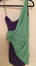 VALENTINO FAB TWO TONE DRESS incredible combination of purple and light green
