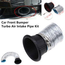 Car Front Bumper Turbo Air Intake Pipe Turbine Funnel Carbon Fiber Style 110mm