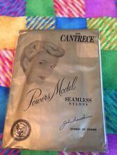 Two Pair Vintage Powers Model Garter Stockings Suntan 9 1/2-10 mesh