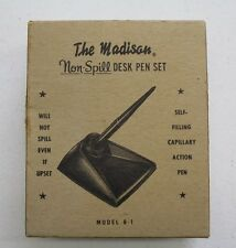 VINTAGE The Madison Non-Spill Desk Fountain Pen Set B-1 Model