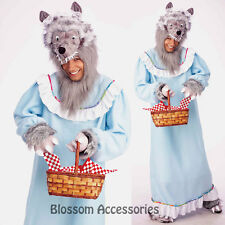 C945 Granny Wolf Big Bad Wolf Grandma Fairytale Halloween Adult Costume Outfit