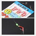 1 Pack 3 Size Sabiki Bait Rigs 6 Hooks Fish Skin Saltwater Fishing Lures W)
