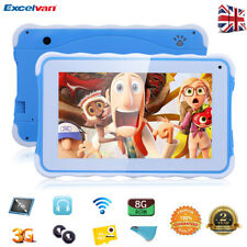 "7"" INCH KIDS ANDROID 4.4 TABLET PC 3G WIFI 8GB Dual Camera CHILDREN GIFT TF 64GB"