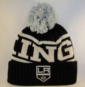 Los Angeles Kings NHL Reebok Cuffed Knit Pom Hat