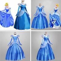 Adult Women Cinderella Princess Dress Ladies Fancy Cosplay Costume Halloween