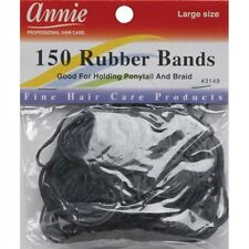 Annie 150 Large Rubber Bands Black #3149