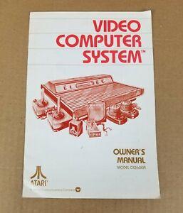 Original Atari 2600 Video Computer System Owner's Manual - Model CX2600A