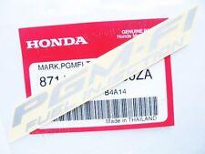 1x HONDA 11cmx13mm STICKER PGM-FI FUEK INJECTION  EMBLEM LOGO SILVER MARK A30ZA