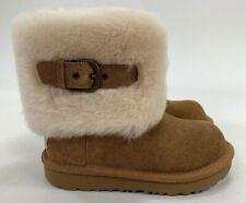 UGG Ellee II Chestnut Shearling Cuff Kids Girl Toddler Boots Size 10 M1092358K