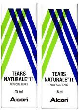2x Alcon Tears Naturale II Artificial Tears Eye Drop 15 mL(0.5FL OZ) For Dryness