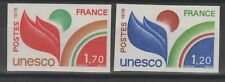 Timbres de Service N° 56 & 57 UNESCO 1978, NON DENTELE, NEUF **, cote Y&T 92 €