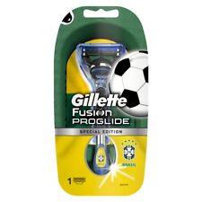 Gillette Fusion ProGlide Rasierer Brasilien Fan Edition Griff mit 1 Klinge