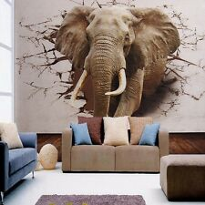 Moden Bedroom 3D Mural Roll Elephant Broken Wall Wallpaper Home Background Decor