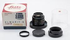 (24) Leica Elmarit-R 35/2.8 11101K 3-cam lens w/caps hood bubble case match box