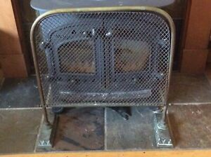 Vintage Brass Fire Guard - Early 20th Century Fire