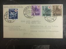 1950 Tarragona Spain First Day Of Issue Cover To Philadelphia USA