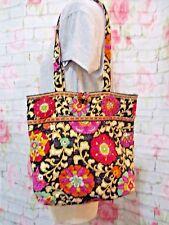 Vera Bradley Black Floral Shoulder Bag MediumTote Fabric Handbag Purse