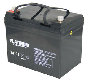 Platinum 12V 33AH  34-12 AGM/GEL Mobility Battery   V