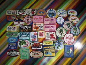 vtg 1970s 80s Fishing patch / sticker - Bass'n GCCA Worth Tru Whopper +