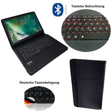3in1 Tablet-Tastatur mit licht Samsung Galaxy Tab 10.1N Qwertz Bluetooth LT1