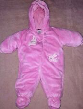 Baby Girls ABSORBA Pink Plush Bunting Snow Suit Size 6 months EUC Winter Snow