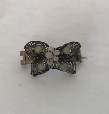 Vintage Tiny Wire Silver Beaded Butterfly Pin Brooch Womens Girls