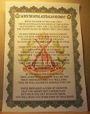 Australian Army 3rd Battalion Royal Australian Regiment Poem.