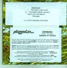 (CY774) Exitmusic, The Night - 2012 DJ CD