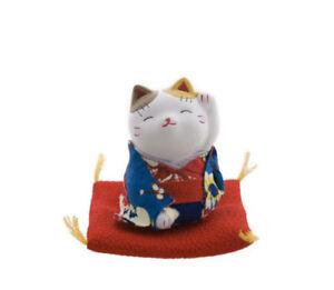 Manekineko Baby Bianco Gatto Portafortuna Giappone Maneki Neko E Son Kimono 7653