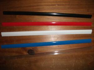 10,15,20,25,30 x A4 SLIDE BINDERS/SPINE BARS - 5MM - BLACK,RED,BLUE,WHITE,CLEAR