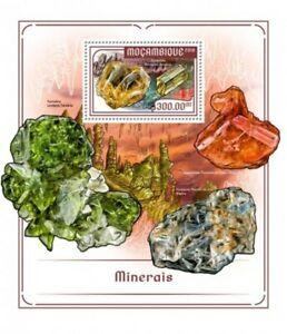 Mozambique - 2018 Minerals on Stamps - Stamp Souvenir Sheet MOZ18208b